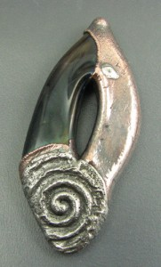 Silver and electroformed glass bead