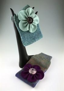 Headbands and Merino Flowers, My Glass Centers