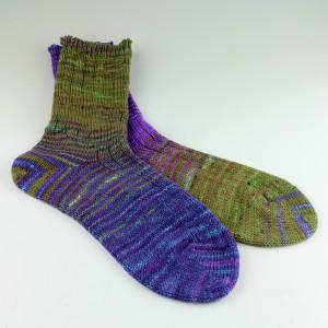 Hand Dyed Secret Message Socks